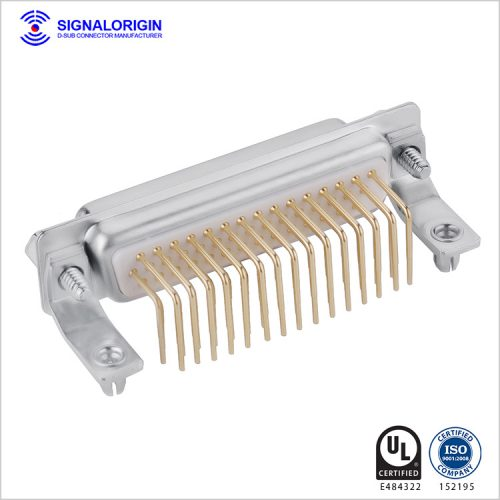 44 pin D-sub connector female right angle type