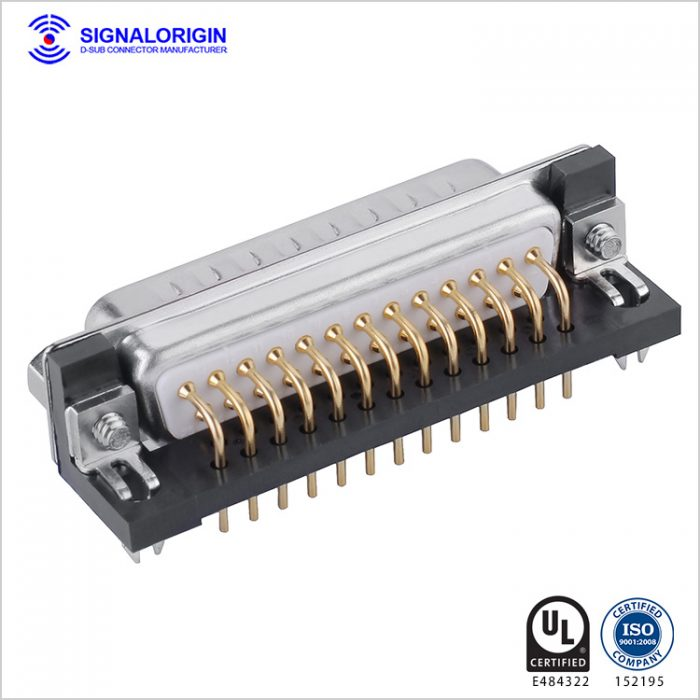 25 pin d-sub connector male PCB right angle type