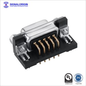 9 pin d-sub connector female pcb right angle