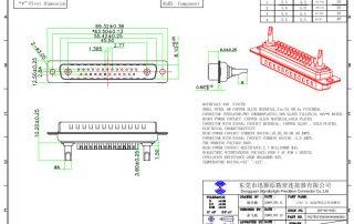 27W2 combination D-sub connectors