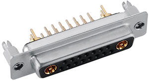 17W2 D-sub coaxial female connector manufacturer