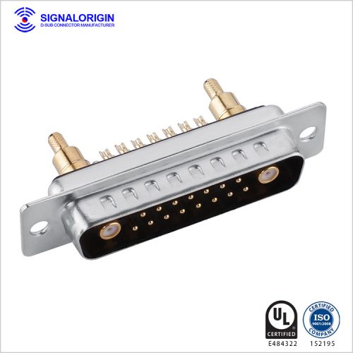17W2 D-sub coaxial male connector solder cup