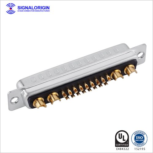 21W4 D-sub high current connector solder cup