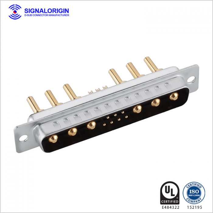 13W6 D-Sub high current long solder cup connector