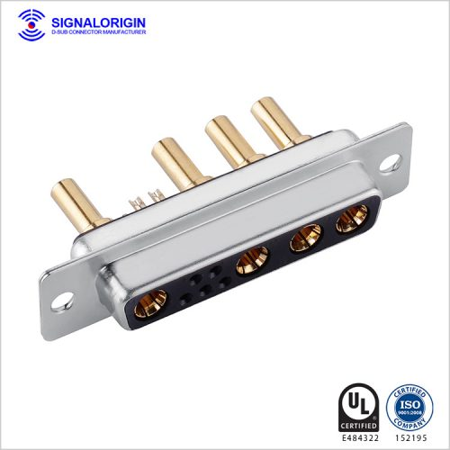 9W4 D-sub hight current female connector supply