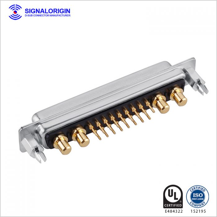 21W4 D-Sub female high current connector straight type