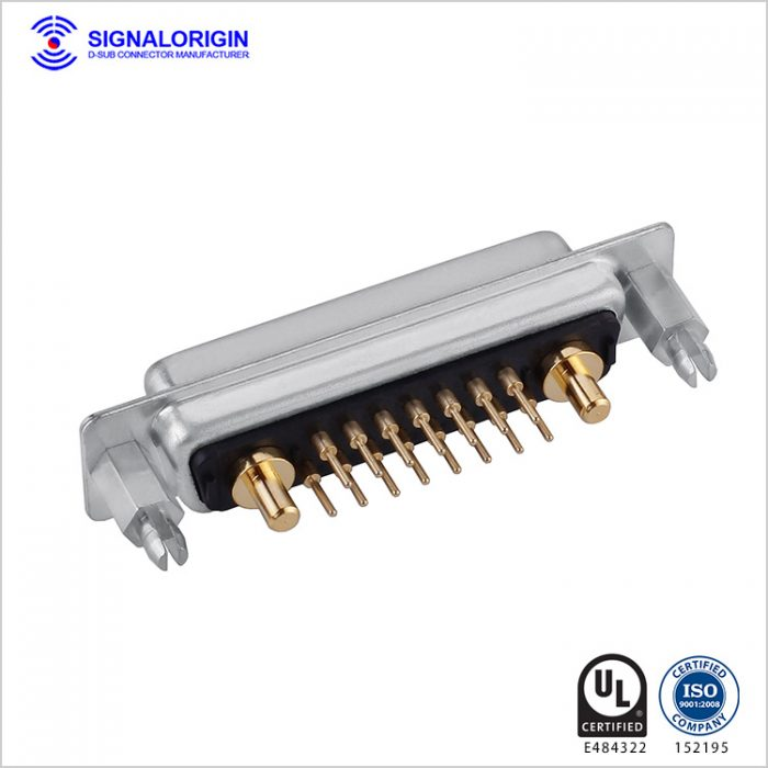 17W2 D-Sub female high current connector straight type