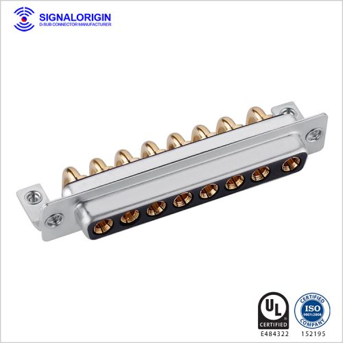 8W8 D-Sub high current female connector right angle type