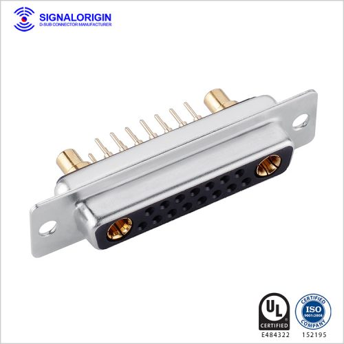 17W2 D-sub mix contact connector socket straight type