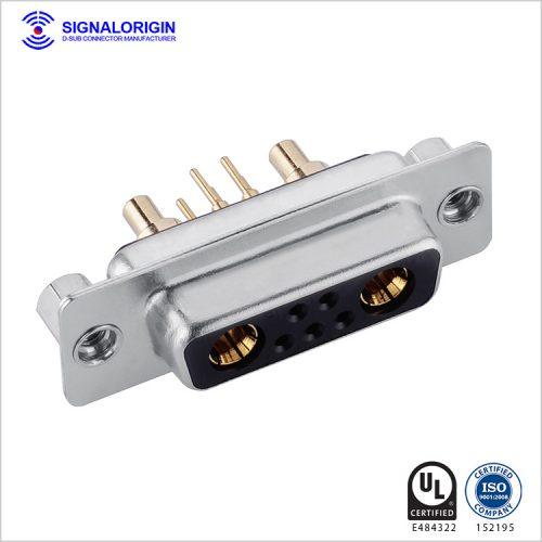 7W2 D-sub high current female dip type connector
