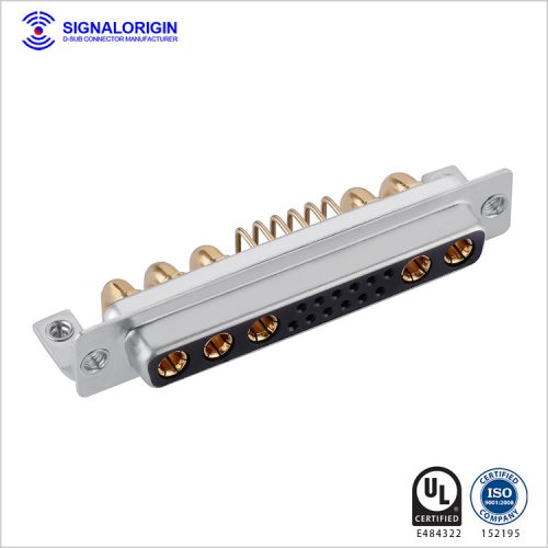 17W5 D-sub female right angle connector supply