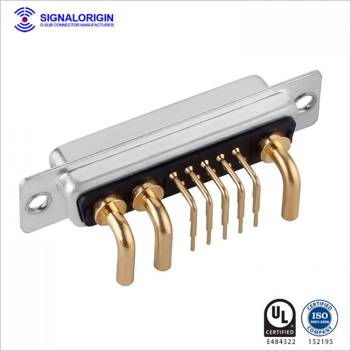 13W3 D-sub female right angle connector supply
