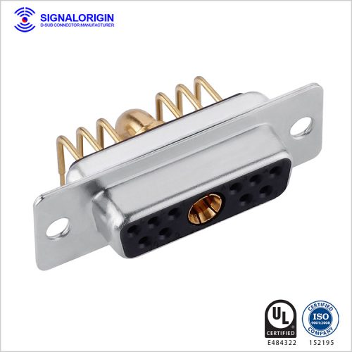 11W1 D-sub female right angle high current connector