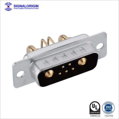 7W2 D-sub male right angle high current connector