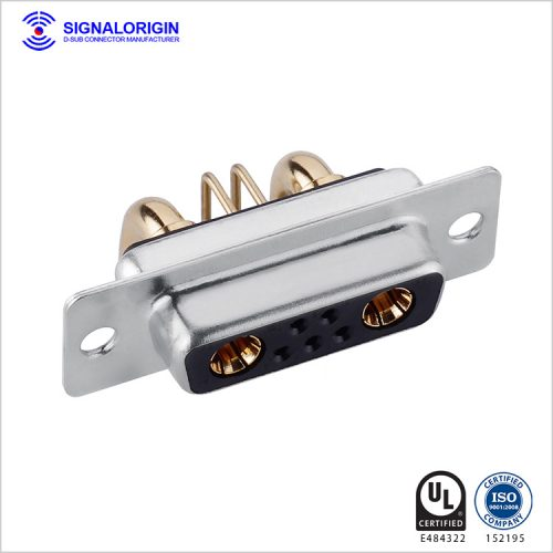 7W2 D-sub female right angle high current connector