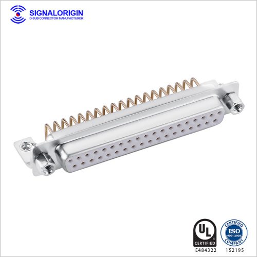 37 pin female bending d-sub connector with screws