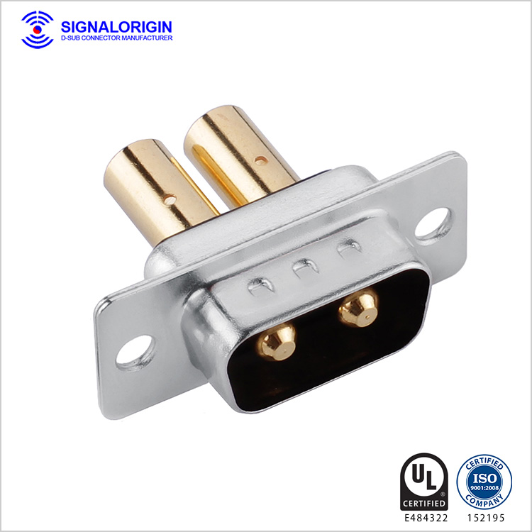 2W2 D-sub crimp male connector factory China